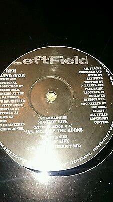 Leftfield -Song Of Life Underworld Remixes Sasha Digweed Renaissance CLASSIC 12""