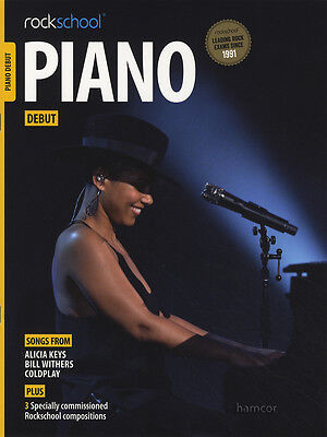 Rockschool Piano Debut Exam Sheet Music Book/Audio Coldplay Alicia Keys