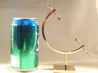 (1) Large Brass CALIPER Display Stand for Spheres & More