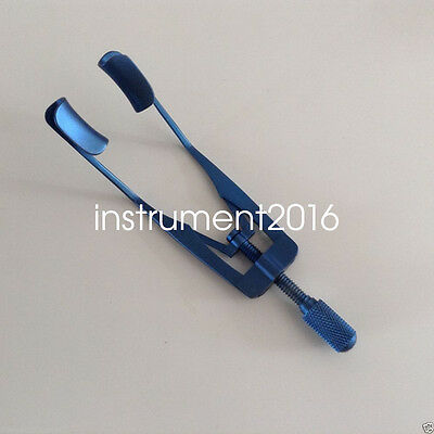 Titanium Lieberman Solid eye Speculum speculums ophthalmic surgical instrument