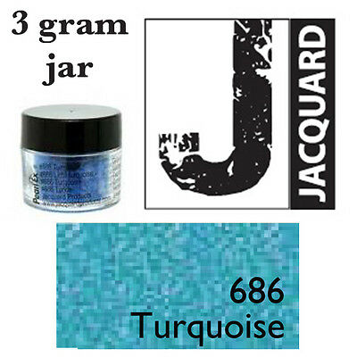 Pearl Ex Mica Powdered Pigments - 3g bottles - TURQUOISE 686