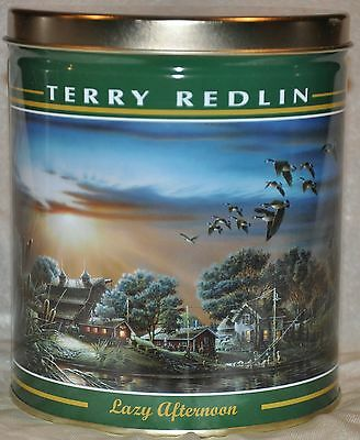 "Terry Redlin ""Lazy Afternoon"" 6 inch Tin Farmhouse with Pond and Geese"