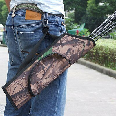 Target Hunting Archery Quiver Back Hip Waist Bag Arrow Bow Holder Pouch
