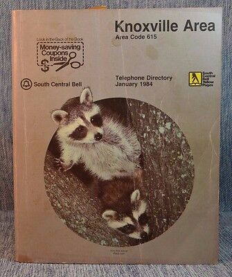 Vintage Phone Book Telephone Directory South Central Bell Knoxville Area 1984
