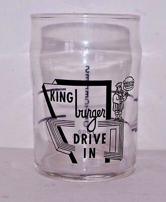 Vintage King Burger Drive In Drinking Glass  (Lima, Ohio)