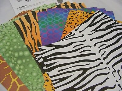 Animal Print Paper 40 x A4 Sheets of Animal Skin Patterned Craft Paper 120gm