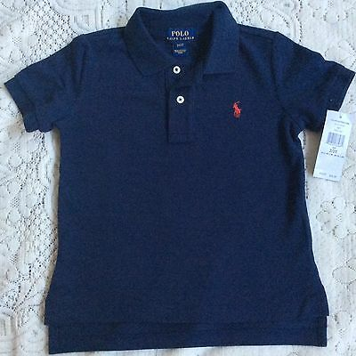New Ralph Lauren Boys Navy Polo-shirt 18M