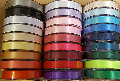 Satin Ribbon 3mm Double Sided by Super Ribbons 26 Colours Choice of Lengths