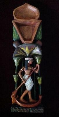 Egyptian Girl Rowing in the Nile Marshes - Cosmetic Spoon