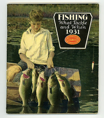 SOUTH BEND 1931 Fishing Tackle Catalog ~ 80pp. Rods, Reels, Lures, Flies