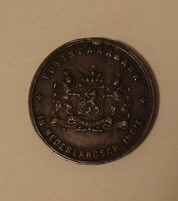 Netherlands East Indies Post Office Savings Bank POSTSPAARBANK Token Unstamped