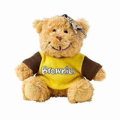 Brownie Girlguiding Teddy Clip Keyring
