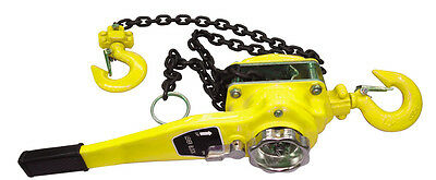 1-1/2 Ton Lever Block Chain Hoist 10 Foot Lift Come Along Puller