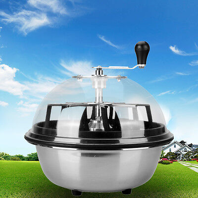"""16 """"hydroponique Spin Bud Pro Tumble Feuille Trimmer Cutter Bowl Stainless"""
