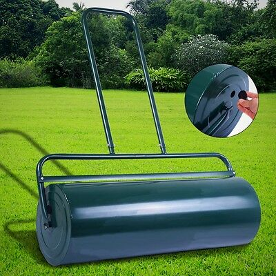 Heavy Duty Metal Yard 63L Water / Sand Filled Garden For Grass Or Lawn Roller