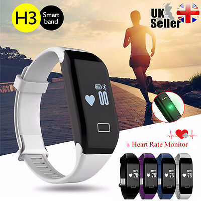 H3 Smart Watch Wristband Bluetooth OLED Fitness Tracker Heart Rate Monitor UK