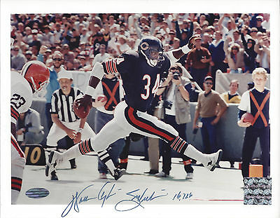 Walter Payton auto autographed 8x10 Steiner Chicago Bears 16,726 inscription