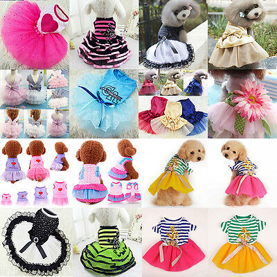 Cute Pet Cat Dog Tutu Lace Dress Skirt Puppy Princess Costume Apparel Clothes