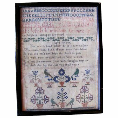 Antique English Georgian Sampler 18th Century