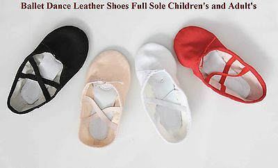 Leather Ballet Dance Fitness Gymnastics Shoes For Kids and Adults Limited Offer
