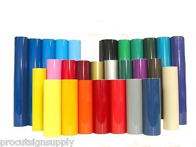 "12"" x 5' Roll Permanent Adhesive Glossy Vinyl for Crafts, Decals, Signs Stickers"