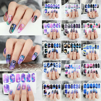 Nail Stickers Wraps Full Self Adhesive Polish Foils Decoration Art Decals