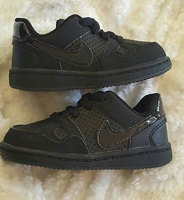7b3de7a8ce0e NIKE Black Son of Force (TD) Infant Toddler Leather Shoes 625206-020 Size