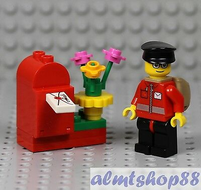 Lego City Female Postal Office Delivery Carrier Mini Figure With 2 Mail Envelope