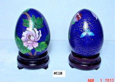Special Sale! Vintage Cloisonne Eggs w/stand, hand-made, Beautiful, Collectible