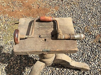 Vintage Old Antique Hand Drill Tool