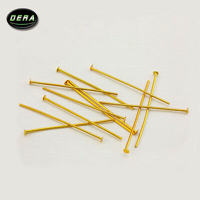 100pcs (40mm) BRASS color PINS CHANDELIER LAMP BEAD PRISM CRYSTAL CONNECTOR