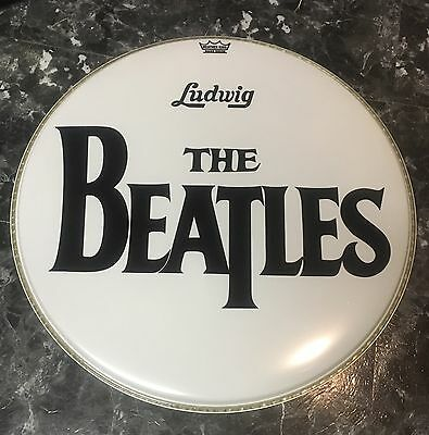 "The Beatles 22""  Ed Sullivan Show Bass Drum Head Collectible Ringo Starr"