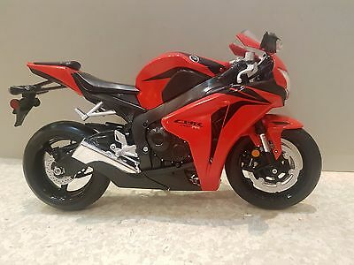 Scale Model Motorcycle Honda CBR 1000 RR Die Cast Plastic Model 1:10 Scale