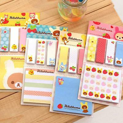 Pads Flags Cute Paper Removable Sticky Notes Bear Post It Memo