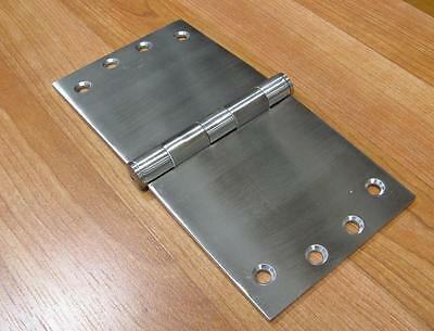 SMOOTH ACTION WIDE THROW BUTT HINGES SOLID STAINLESS STEEL 3.5mm THICK 100X200mm