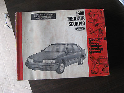1989 merkur scorpio electrical troubleshooting manual 89 oem evtm rh picclick com