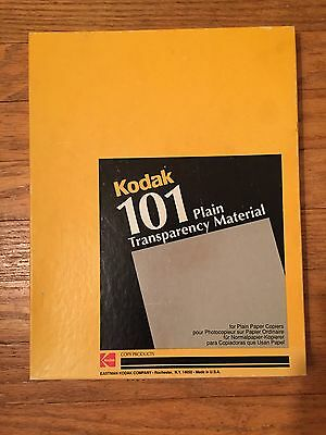 Kodak 101 Plain Transparency Material Mint in Original Box