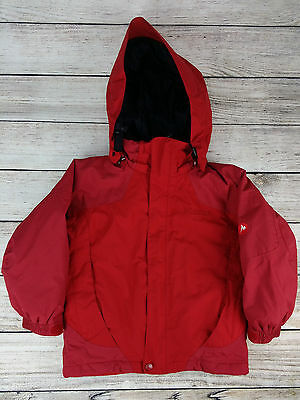 Marmot sz S 6-7 Jacket Winter Ski Coat Red Hooded Insulated Warm