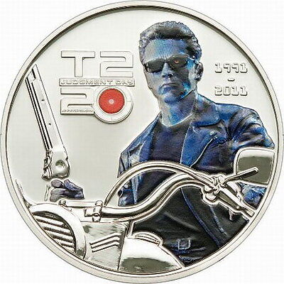 Cook 2011 Terminator 5 Dollars Colour Silver Coins,Proof-B