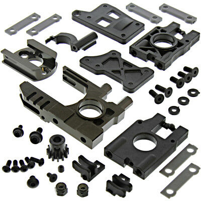 Kyosho Inferno MP9e TKI4 * MOTOR & DIFFERENTIAL PLATE MOUNTS, 12T PINION GEAR *