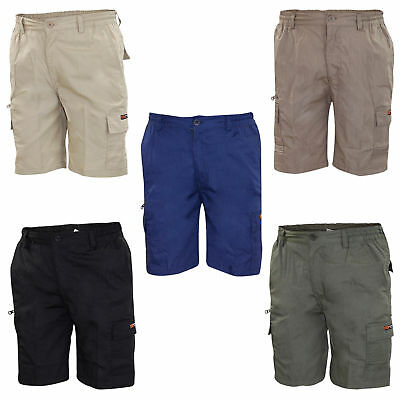 New Mens Mian Elasticated Bermuda Cotton Combat Cargo Work Shorts Casual Pant