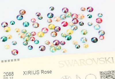 Genuine SWAROVSKI 2058 & 2088 Flat Backs No Hotfix Crystals * NEW Shimmer Effect