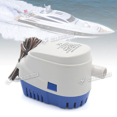 12V Boat Automatic Submersible Bilge Water Pump 750GPH Auto Float Switch UK