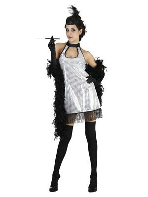 Charleston Flapper Kleid diamant edel 20s Dame