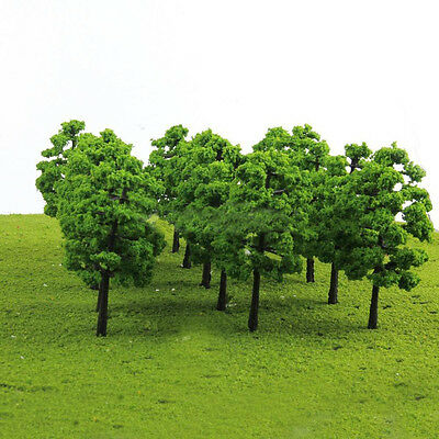 20 Model Trees Train Railroad Diorama Wargame Scenery HO OO Scale 1:100 Novelty