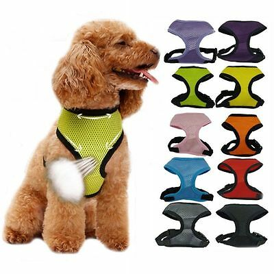 Nylon Pet Puppy Soft Mesh Dog Harness Strap Vest Collar For Small Medium Novelty