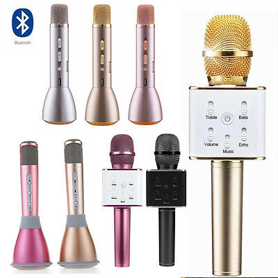 Mini Karaoke KTV Wireless Bluetooth Microphone Speaker Mic Handheld Q7/K068/K088