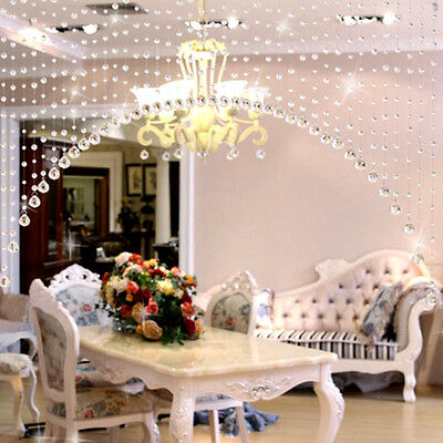 1PC String Glass Crystal Transparent Bead Hanging Curtain String Home Decor