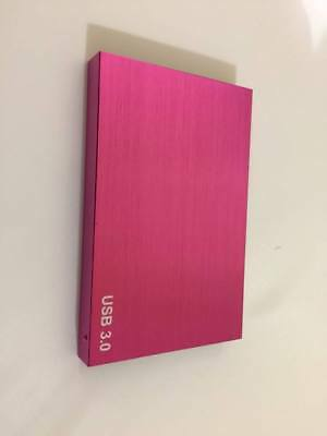 "Hard Drives For You 160GB External Portable 2.5"" USB 3.0 Hard Drive Pink"