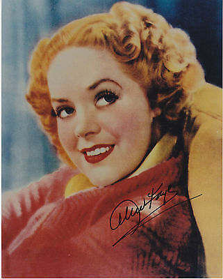 ALICE FAYE (1915-1998) hand signed 8x10 photo ] photograph autographed